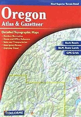 Oregon Atlas And Gazetteer - Delorme Mapping Company Delorme (Paperback) New