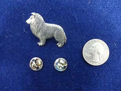 VTG Harris Sheltie Shetland Sheepdog Dog Pin Brooch PEWTER Jewelry Collectible
