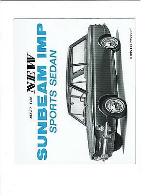 1964 Sunbeam IMP Sports Sedan Sales Brochure