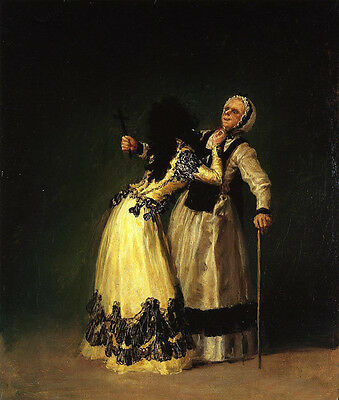 Oil painting francisco de goya - The Duchess of Alba and Her Duenna no framed @@