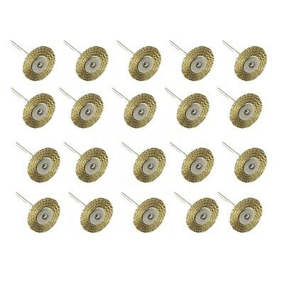 100 PCS Copper Wire Brush Assortment Remover Cleans Metal Brass Surface 3X25mm