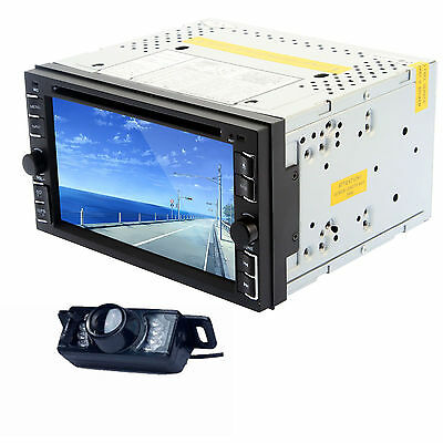 """Double 2DIN 6.2"""" Touch Screen Car Stereo CD DVD Radio Player BT, Mp3+Free Camera"""