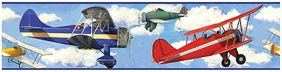 Roommates Planes Wallpaper Border New Kids Vintage Planes Wall Decor Free P+P