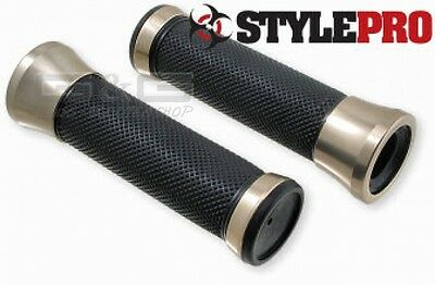 CNC Alloy I TITANIUM 22/25mm Handlebar Grips for motorcycle scooter Quad ATV