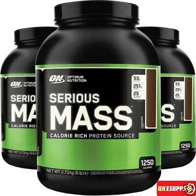 ON Optimum Nutrition Serious Mass 5.4kg 2.7KG Hard Weight Gainer Protein