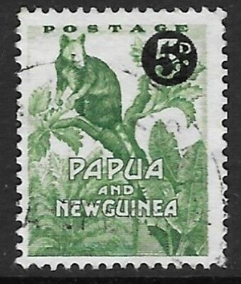 PAPUA NEW GUINEA SG25 1959 5d ON ½d FINE USED