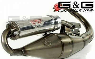 Exhaust Leovince Tt for Piaggio NRG Mc ³ Runner Pure Jet 50i H2o 2t Derbi Gp1 LC