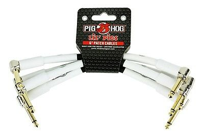 """NEW - Pig Hog Lil' Pigs 6"""" Patch Cable Set of 4, #PHLIL6"""