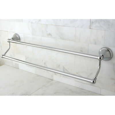 "Kingston Brass Governor Double 24"" Wall Mounted Towel Bar Polished Chrome"