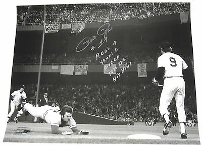 Pete Rose Hand Signed 1976 World Series 16X20 Photo W/proof