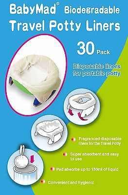 Travel Potty Liners ECO Disposable Compatible Potette Plus/OXO/Babyway 30 PACK