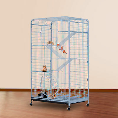 "PawHut 55"" Small Pet Cage Guinea Pig Hamsters Rabbit 2 Doors Portable Playpen WT"