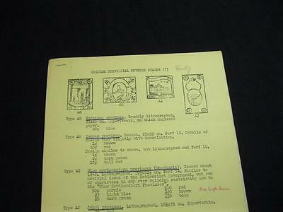 CHINESE PROVINCIAL REVENUE STAMPS (7) by A W BENDIG