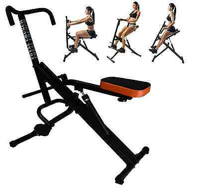 Total Full Body Fitness Abdominal Crunch Horse Rider Machine Ejercita Todo NEW