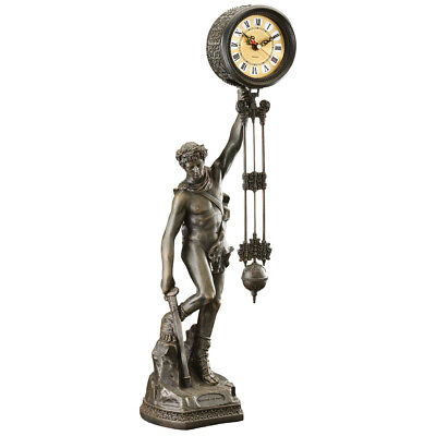 Design Toscano Be Crowned with Victory Sculptural Pendulum Clock