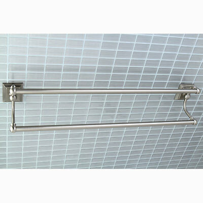 "Kingston Brass Millennium Double 24"" Wall Mounted Towel Bar Satin Nickel"