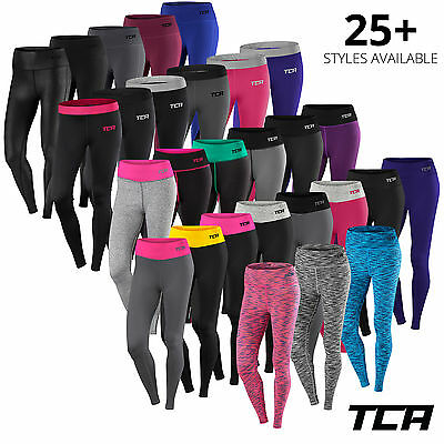 Womens TCA Pro Workout Thick Leggings Bottoms Running Gym Zumba Yoga Fitness