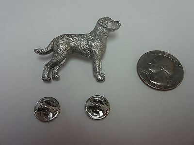 Vtg Harris Chesapeake Bay Retriever Dog Pin Brooch PEWTER Jewelry Collectible