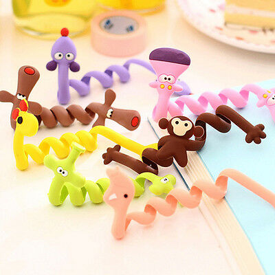2 Cute Animal Earphone Headphone Cable Cord Organizer Manager Wire Wrap Winder