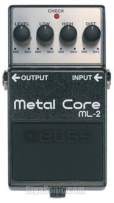 Boss ML-2 ML2 Metal Core Distortion Pedal with Low and High settings New