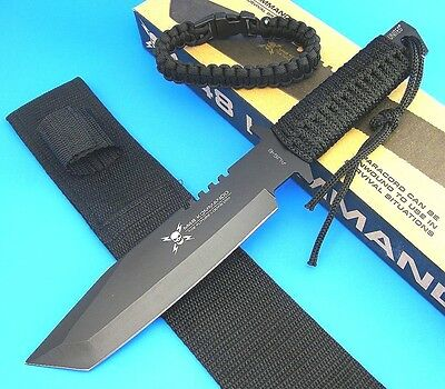 UNITED CUTLERY Fixed Blade Knife ParaCord Wrapped Tanto Survival M48 KOMMANDO