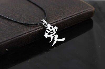 Hot Naruto Kunai Ninja Gaara Love letter Necklace Sasuke Itachi jewelry  Pendant