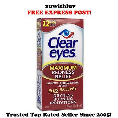 Clear Eyes Maximum Strength Lubricant Redness Relief Eye Drops 15Ml