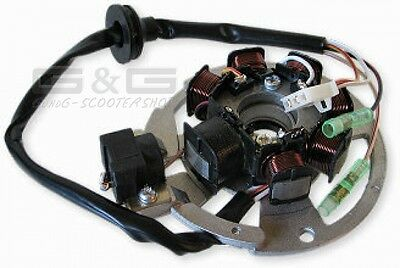 ALTERNATOR STATOR with 5 Cable Ignition armature plate PICK-UP outside -50cc