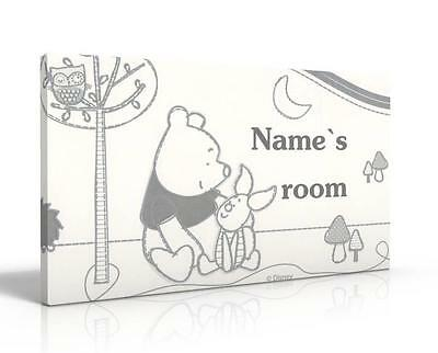Personalised Door Sign / Name Plaque - Winnie The Pooh Starry Night New Free P&p