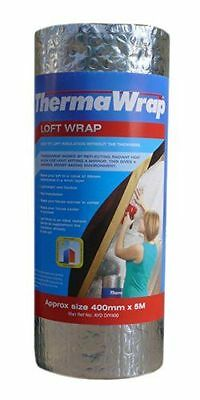 Thermawrap Matériau d'isolation de toiture Pose facile 400 mm x 5 m x NEUF