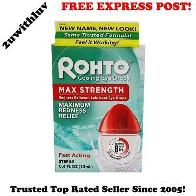 Rohto Cooling Lubricant Eye Drops Maximum Strength Redness Relief Fast Acting