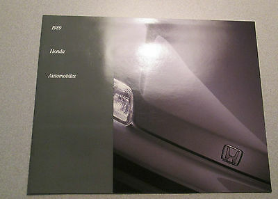 1989 HONDA Automobiles Color Sales Brochure