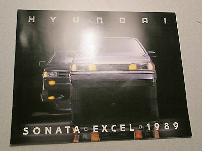 1989 HYUNDAI SONATA EXCEL Color Sales Brochure