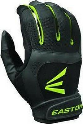 1 Pair Easton Stealth Core Medium Black / Optic Fastpitch Womens  Batting Gloves