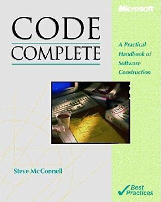 Code Complete: A Practical Handbook of Soft... by McConnell, Steven C. Paperback