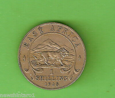 #d248.  1948   British  East Africa  One Shilling   Coin