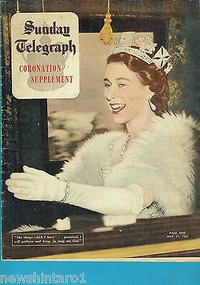 SUNDAY TELEGRAPH CORONATION SUPPLEMENT MAGAZINE, 31st  May  1953