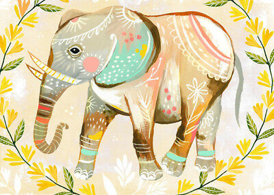 Oopsy Daisy Wild Flower Elephant Canvas Art