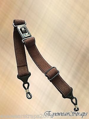 NEW Brown Glasses / Sunglasses Adjustable Elasticated Head Band Strap Cord