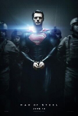 """MAN OF STEEL 2013 Advance Version B DS 2 Sided 27X40"""" Movie Poster SUPERMAN"""