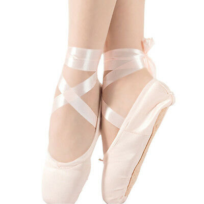 Pink Red Ballet Pointe Dance Toe Shoes Professional Satin Canvas Shoes Ladies