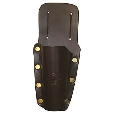 Secateur Holster/Holder - Deluxe Mahogany Brown Leather - Gardening Accessory
