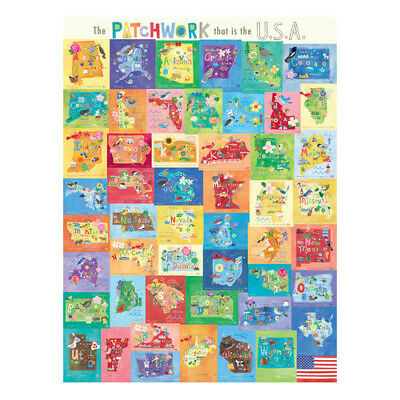 Oopsy Daisy The Patchwork That is The USA Canvas Art