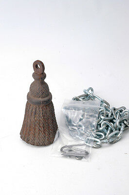 Antique Victorian Cast Iron Tassel Gate Closure set gate weight AH03071604