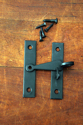 Cabinet Door, Bar Latch Pigtail 3 inch Blacksmith forged iron USA VH03071603