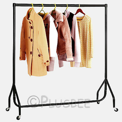 NEW 4ft Garments Clothes Rail Coat Display Hanging Rack Storage Adjustable Stand