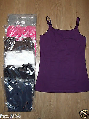 Glamourmom Glamour Mom Maternity Tank Vest Top with Nursing Bra S M L XL New
