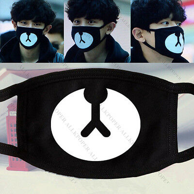 Kpop EXO Chanyeol Lucky Bear Mouth Mask Chan yeol  2015 New Arrival Face Muffle