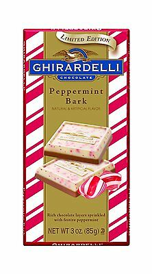 3 Ghirardelli MILK CHOCOLATE PEPPERMINT Bars LIMITED 3oz 85g Dated 8/16 cocoa
