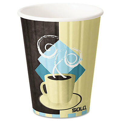 """Duo Shield Hot Insulated 12oz Paper Cups, Beige, 600/carton"""